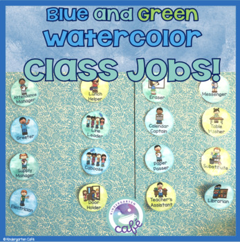 Class Jobs - Watercolor Green and Blue!