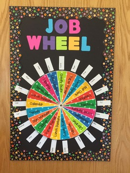 Class Jobs Wheel - Boho Birds Color Scheme - 21 Students