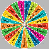 Class Jobs Wheel - Boho Birds Color Scheme - 21 Students (