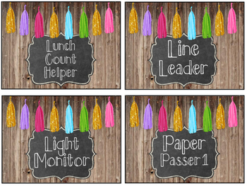 Class Jobs (Wood, Chalkboards, and Tassels)