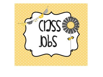 Class Jobs Yellow and Grey