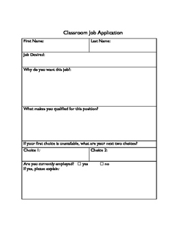 Class Jobs and Application