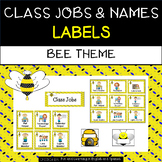 Class Jobs and Name Labels - Bee Theme