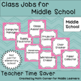 Class Jobs for Middle School
