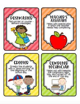 Class Jobs for the Leadership Classroom