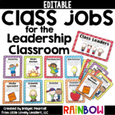 Editable Class Jobs for the Leadership Classroom