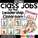 Editable Class Jobs for the Leadership Classroom