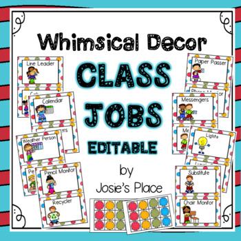Class Jobs EDITABLE Dr. S  Inspired