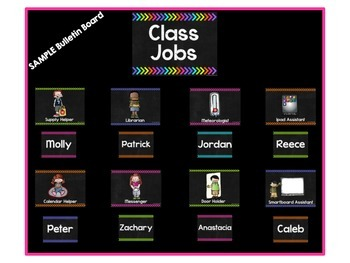 Class Jobs with {Editable} Student Name Tags!