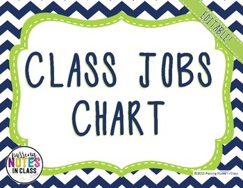 Class Jobs with Header   Navy + Lime Green