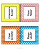 Classroom Job Chart/Cards with Headers & Descriptions (Editable Template)