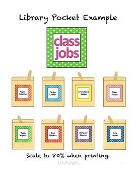 Classroom Job Chart/Cards with Headers & Descriptions (Editable Template)