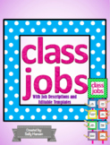 Classroom Job Chart/Cards with Headers & Descriptions (Edi
