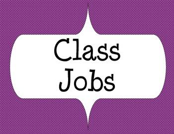 Class Jobs with Purple design