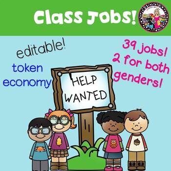 Class Jobs *EDITABLE* and MORE! Token Economy too!