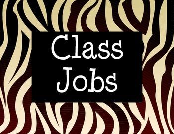 Class Jobs with Zebra Design