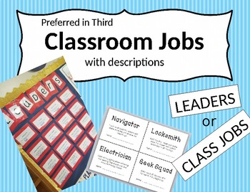Class Jobs (with application)