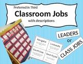 Class Jobs (with application) - Editable!