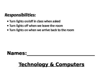 Class Jobs with responsibilities