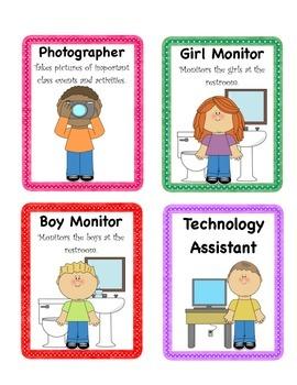 Class Jobs/Leadership Cards
