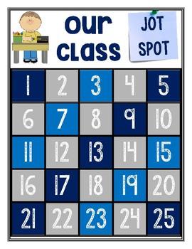 Class Jot Spot Blue