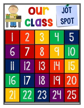 Class Jot Spot Rainbow