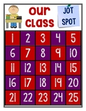 Class Jot Spot Red and Purple