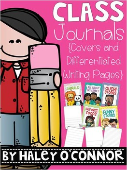 Class Journal Pages and Covers