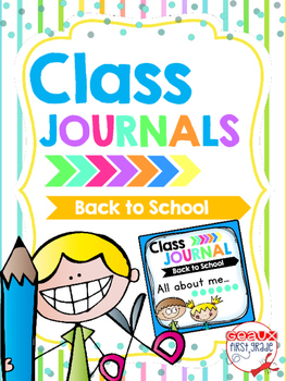 Whole Class Journal Covers for Back to School *August/September*