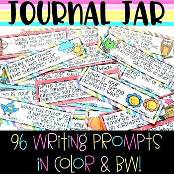 Class Journal Jar - 40+ Writing Prompts for YOUR Classroom!