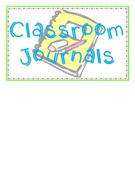 Class Journal Labels