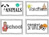 Shared Class Journal Labels FREEBIE