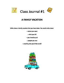 Class Journal Prompts