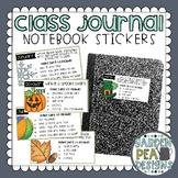 Class Journal Stickers
