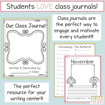 Whole Class Journal-1st & 2nd Grade-Perfect for Writing Center and Motivation