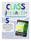 Class Journals- 5 Genres