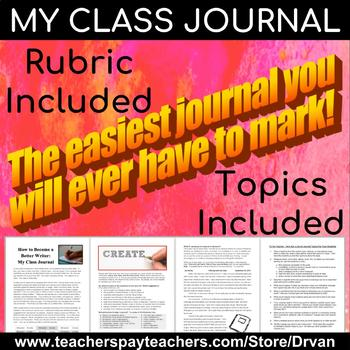 Class Journals - The Easiest English Marking of Your Career!