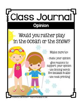 Class Journals *Winter Edition