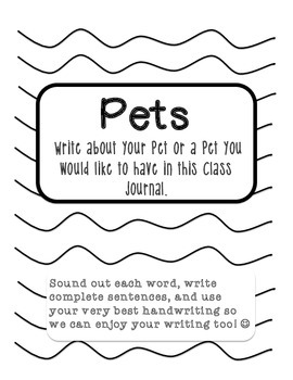 Class Journals for Work on Writing