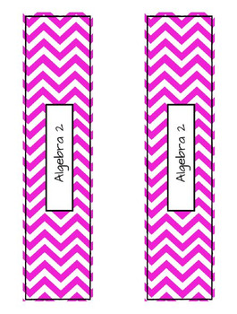 Class Labels - Algebra 2 (Pink)
