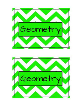 Class Labels - Geometry (Green)