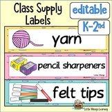 Class Labels Ocean Theme EDITABLE