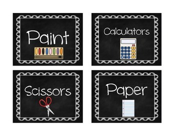 Class Labels (Rainbow and Chalkboard)