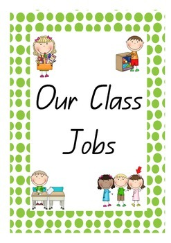 Class Labels Signs for Jobs Materials and Helpers with Pictures