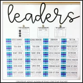 Class Leaders Board Kit (EDITABLE)