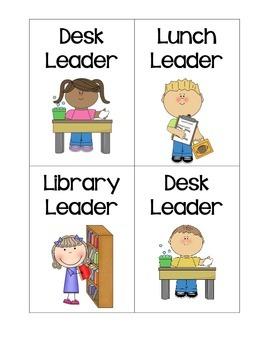 Class Leaders- Job Tags