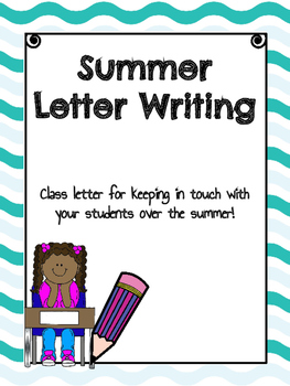 Class Letter for Writing Your Students