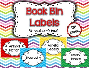 Class Book Bin Labels *By Series, Author, Genre, Theme* Chevrons *Now Editable!*