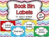 Class Book Bin Labels (164) *By Series, Author, Genre, The