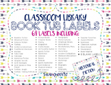 Class Library Book Tub Labels